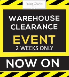 Julian Charles 2 weeks warehouse clearance Affinity Outlet Staffordshire